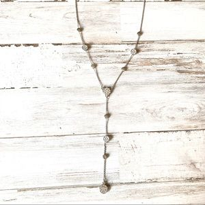 Y Shaped Cubic Zirconia Necklace Adjustable Length